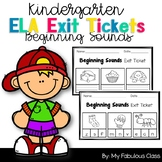 Kindergarten Beginning Sound Exit Tickets