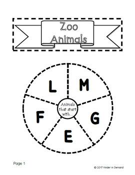 Kindergarten Beginning Sounds Wheel Foldables Bundle
