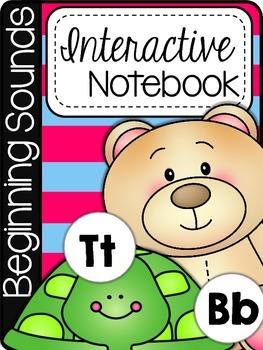 Kindergarten Beginning Sounds Interactive Notebook