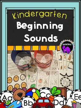 Kindergarten Beginning Sounds Pack A-Z