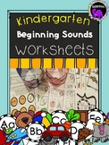 Kindergarten Beginning Sounds Worksheets A-Z