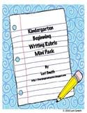 Kindergarten Beginning Writing Rubric Minis
