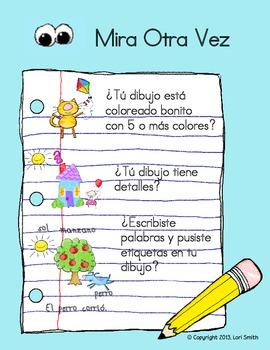 Kindergarten Beginning Writing Rubric (Spanish)