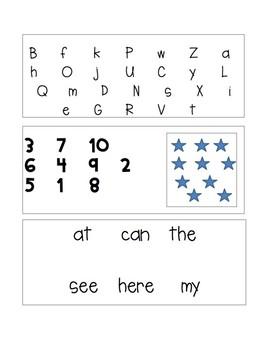 Kindergarten Beginning of Year Assessment