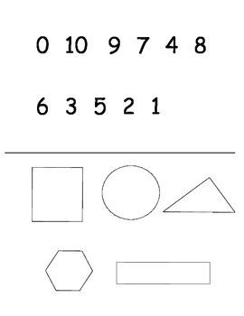 Kindergarten Beginning of Year Math Assessment