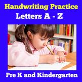 Alphabet Writing Practice   Preschool Kindergarten
