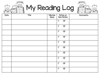 Kindergarten Beginning of the Year Homework