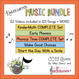 Back to School Kindergarten Music and Videos BUNDLE--With Supporting Materials!