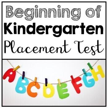 Kindergarten Beginning of the Year Placement Assessment