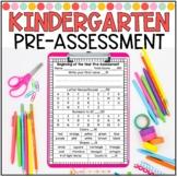Kindergarten Beginning of the Year Pre-Assessment