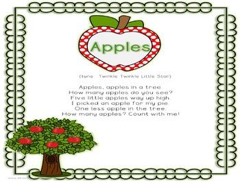 """Kindergarten Beginning of the Year Song: """"Apples,"""" by Deedee Wills & Miss Jenny"""
