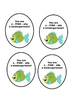 Kindergarten Beginning of the year tags