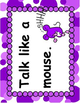 Kindergarten Behavior Anchor Charts