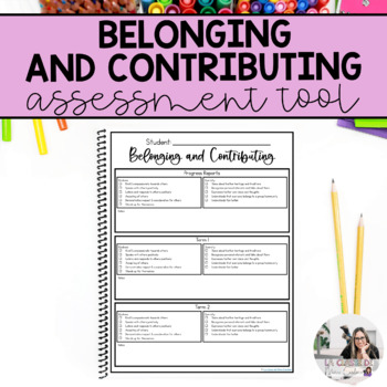 Kindergarten Belonging and Contributing Checklists (Assessment Tool)