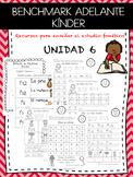 Kindergarten Benchmark Adelante Phonics Unit 6