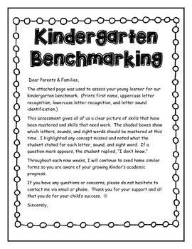 Kindergarten Benchmark Assessments Storytown Letter sounds Sight Words