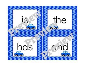 Zoom! Zoom! - Kindergarten Benchmark Literacy Sight Words Game