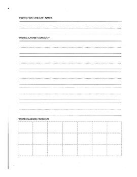 Kindergarten Benchmark Packet