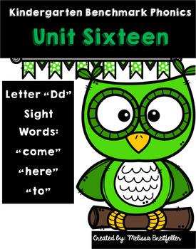 Kindergarten Benchmark Phonics Unit 16