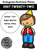 Kindergarten Benchmark Phonics Unit 22
