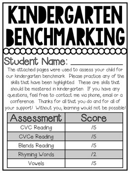 Kindergarten Benchmarking