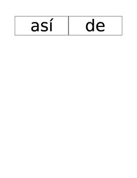 Kindergarten Bilingual 2nd 9 weeks Sight words