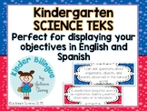 Kindergarten Bilingual SCIENCE TEKS (English and Spanish)
