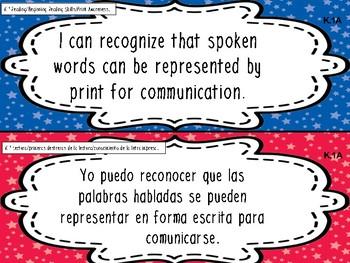 Kindergarten Bilingual SLA TEKS (English and Spanish)