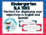 Kindergarten Bilingual SLA TEKS (English and Spanish)