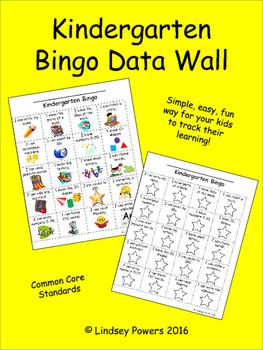 Kindergarten Bingo Data Wall