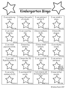 Kindergarten Bingo Data Walls