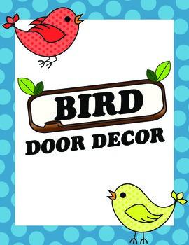 Kindergarten Bird Door Decor