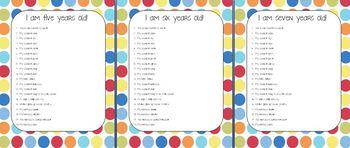Kindergarten Birthday Interviews