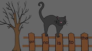 Kindergarten Black Cat Sight Words