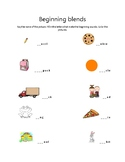 Kindergarten Blends Worksheet