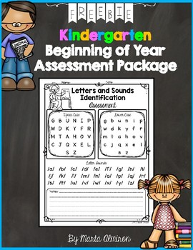 Kindergarten BoY Assessment {My Monthly FREEBIE}