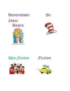 Kindergarten Book Bin Labels