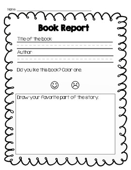book report for kindergarten This page contains literature circle sheets, book reviews, book report forms, and a reading survey most of the worksheets on this page align with the common core standards to see ccss connections, simply click the common core icon  read books and color in the corresponding squares on the bingo .