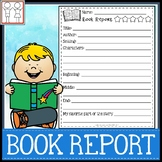 Kindergarten Book Report