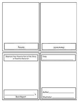 kindergarten book report template