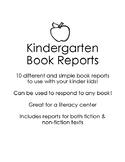 large 3988950 1 - Kindergarten Book Report