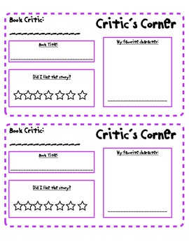 Kindergarten Book Reviews and Story Maps