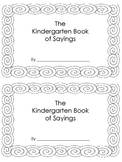 Kindergarten Book of Sayings FIll in words and Color