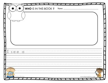 Kindergarten Book review with WHO comprehension question