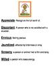 Start of School Books Vocabulary Sheets