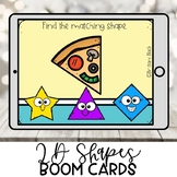Kindergarten Boom Cards | 2D Shapes in the Environment | D