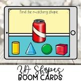 Kindergarten Boom Cards | 3D Shapes | Distance Learning