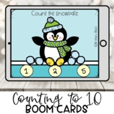 Kindergarten Boom Cards | Counting Snowballs to 10 | Pengu