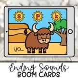Kindergarten Boom Cards | Ending Sounds | Distance Learning