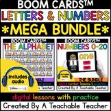 Kindergarten Boom Cards™️ Letters & Numbers Mega Bundle